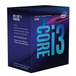 Intel Core ® ™ i3-8100 Processor (6M Cache, 3.60 GHz) 3.6GHz 6Mo Smart Cache Boîte processeur