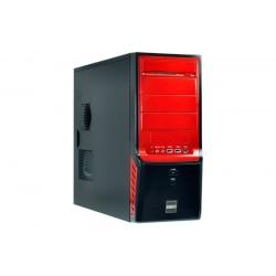 Gigabyte GZ-X4 Boîtier Midi-tour Noir, Rouge unité centrale
