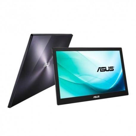 """ASUS MB169B+ écran plat de PC 39,6 cm (15.6"""") Full HD LED Noir, Argent"""